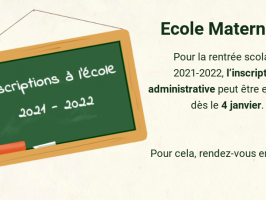 Inscription école 2021